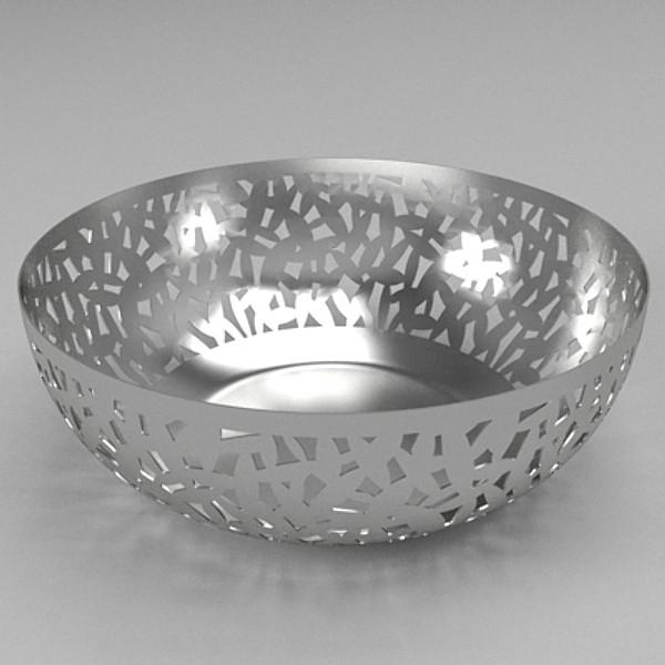 fruit bowl 3d model 3ds skp obj 115234
