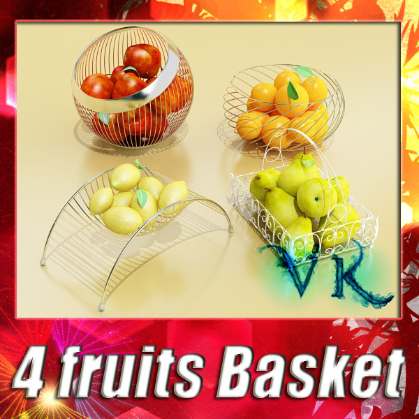 fruits & basket collection 2 3d model 3ds max fbx obj 133881