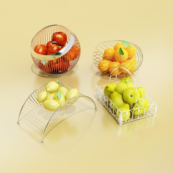 fruits & basket collection 2 3d model 3ds max fbx obj 133882