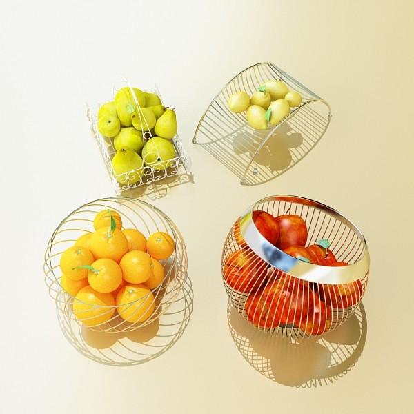 fruits & basket collection 2 3d model 3ds max fbx obj 133883