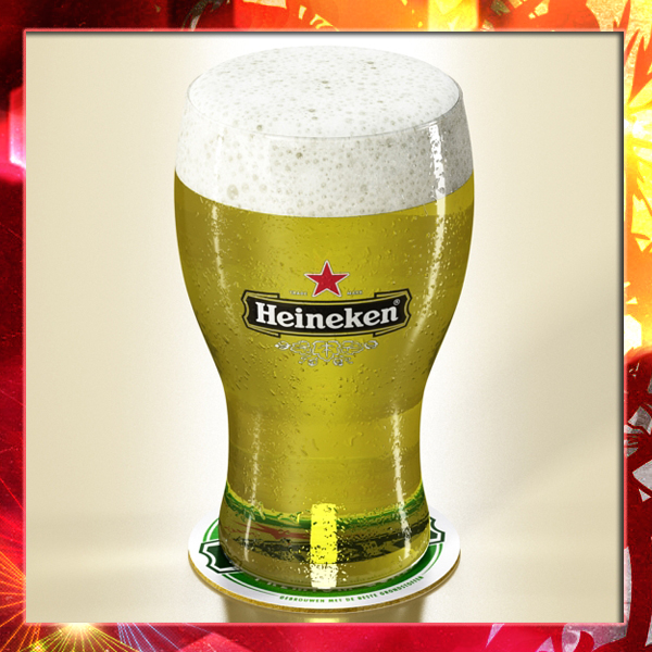 heineken beer – pint glass 3d model 3ds max fbx obj 141778