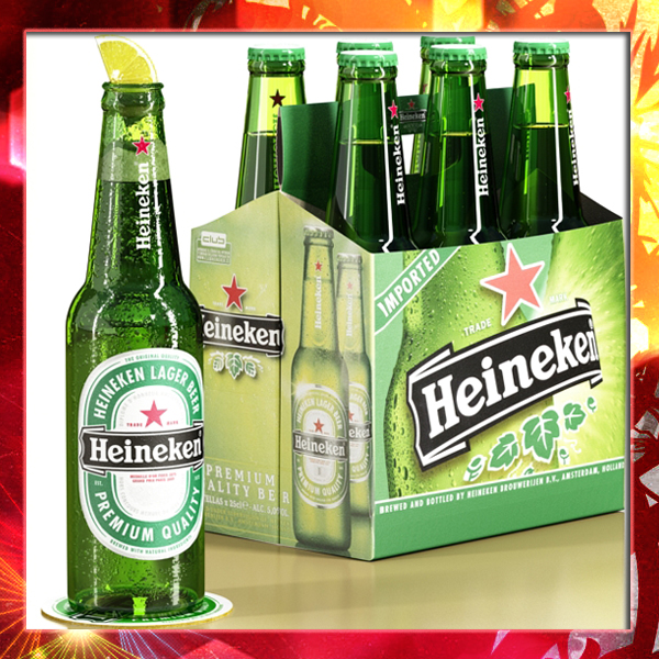 heineken six cardboard pack 3d model 3ds max fbx obj 141712