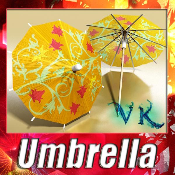 висок детален коктел чадор 3d модел 3ds макс fbx obj 138906