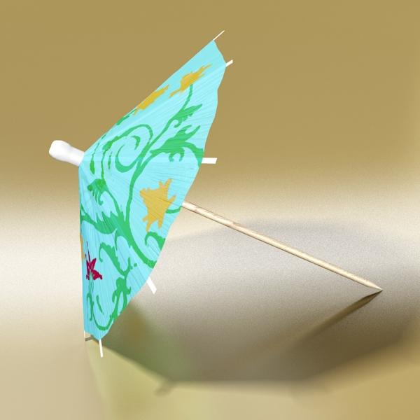 high detailed cocktail umbrella 3d model 3ds max fbx obj 138909