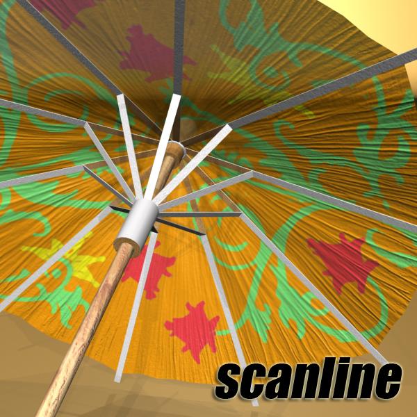 high detailed cocktail umbrella 3d model 3ds max fbx obj 138915