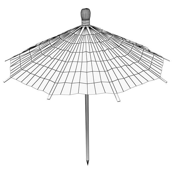 high detailed cocktail umbrella 3d model 3ds max fbx obj 138916