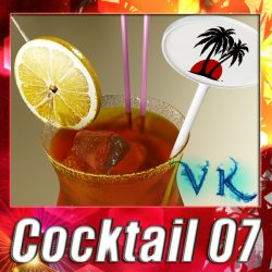 High Detailed Malibu Cocktail with Umbrella. ( 375KB jpg by VKModels )