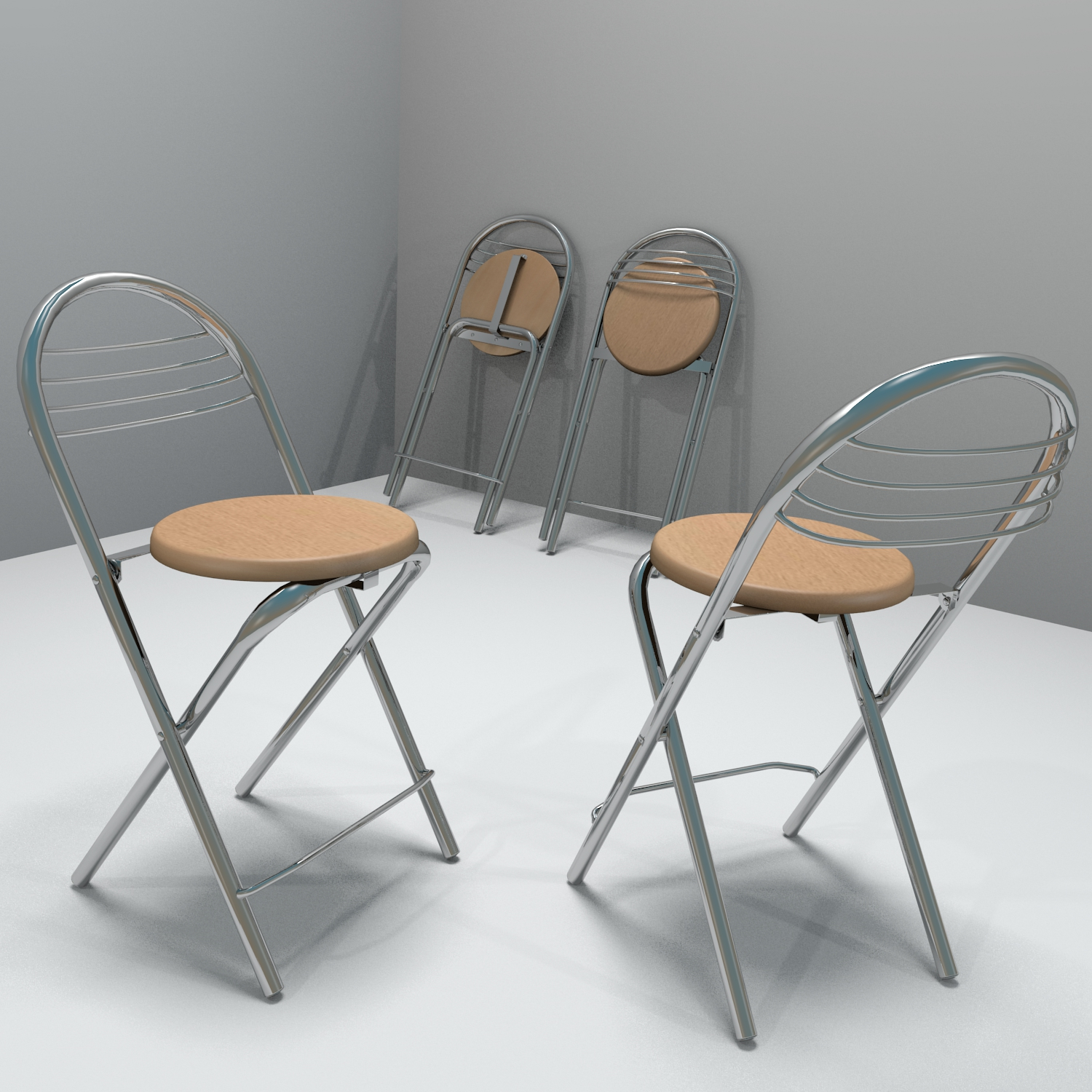 kitchen stool 3d model blend obj 140423