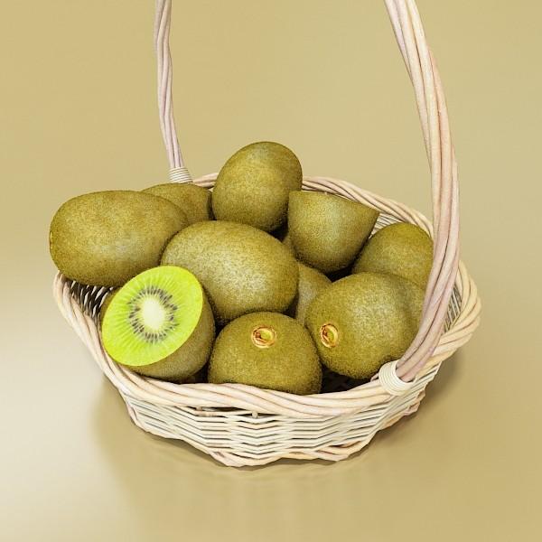 kiwi fruit in basket 3d model 3ds max fbx obj 132794