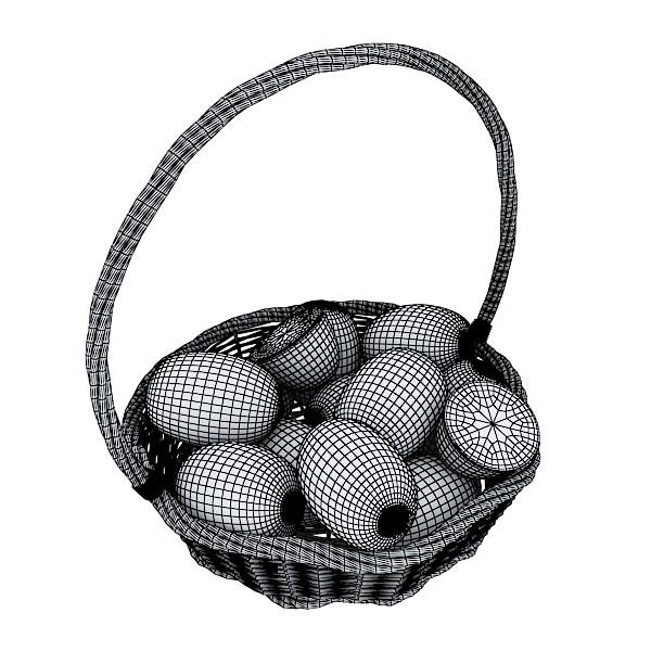 kiwi fruit in basket 3d model 3ds max fbx obj 132799