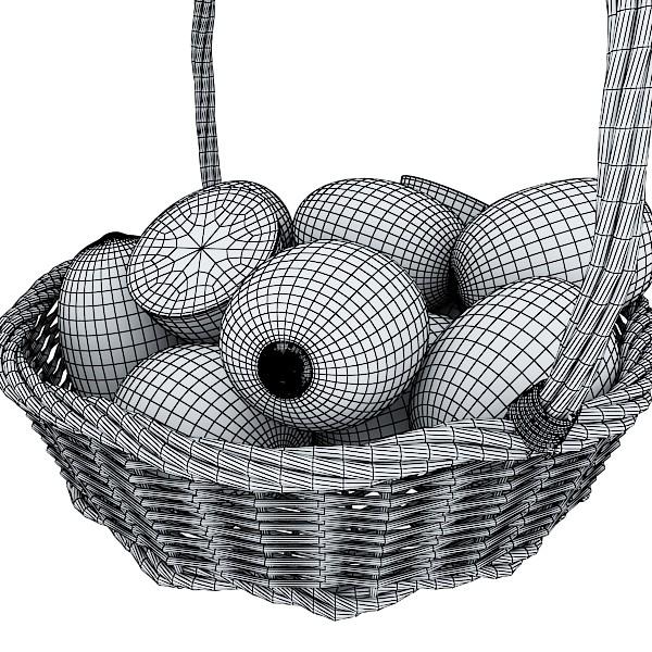 kiwi fruit in basket 3d model 3ds max fbx obj 132800