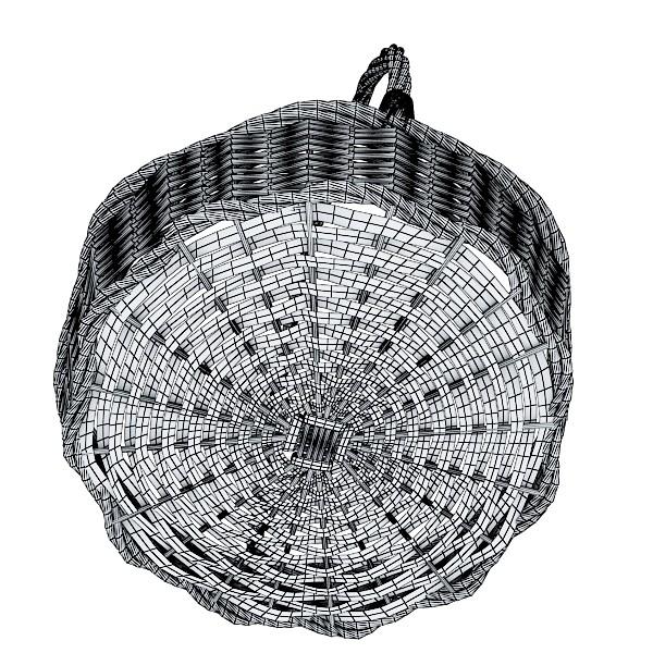 kiwi fruit in basket 3d model 3ds max fbx obj 132810