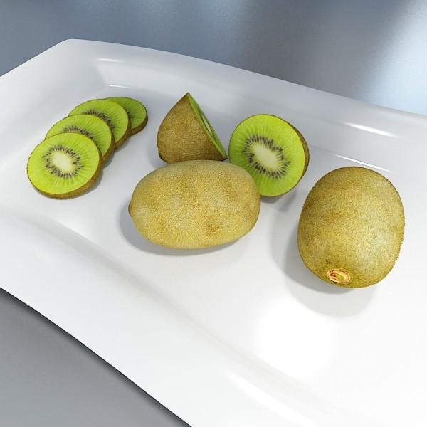 kiwi fruit in basket 3d model 3ds max fbx obj 132811