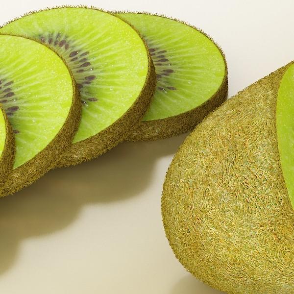kiwi fruit in basket 3d model 3ds max fbx obj 132813