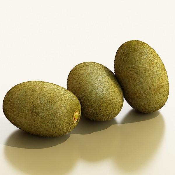 kiwi fruit in basket 3d model 3ds max fbx obj 132815