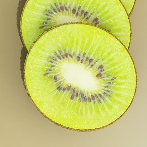 kiwi fruit in basket 3d model 3ds max fbx obj 132817