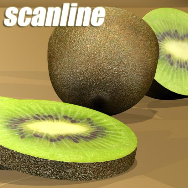 kiwi fruit in basket 3d model 3ds max fbx obj 132818