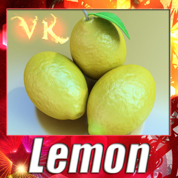lemon high detail 3d model 3ds max fbx obj 132572