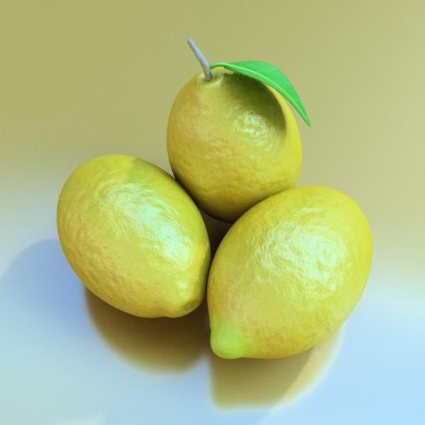 lemon high detail 3d model 3ds max fbx obj 132577