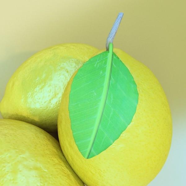 lemon high detail 3d model 3ds max fbx obj 132578