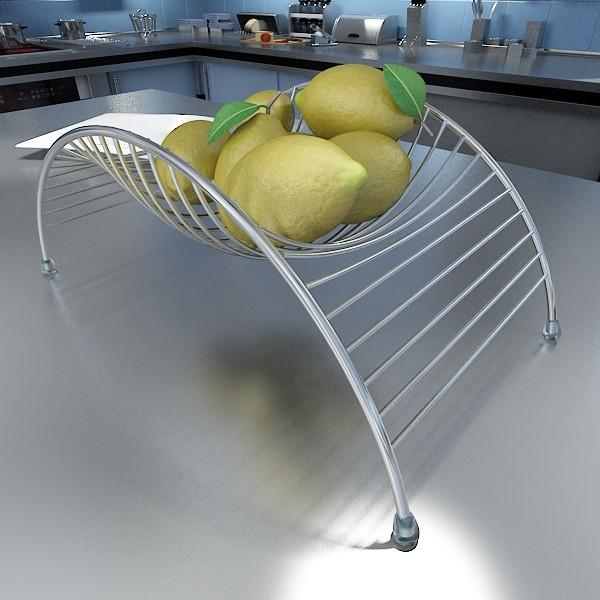 lemons in decorative metal wire container 3d model 3ds max fbx obj 132586