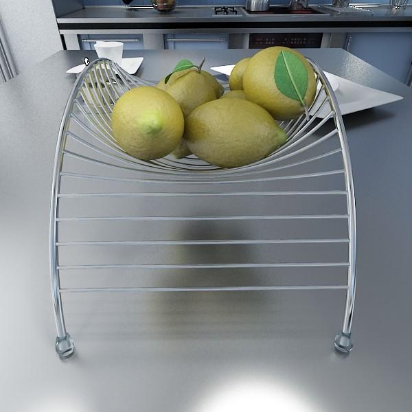 lemons in decorative metal wire container 3d model 3ds max fbx obj 132588