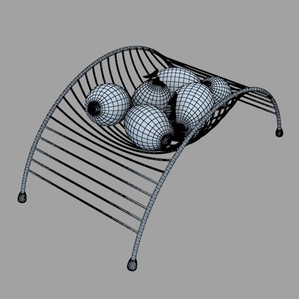 lemons in decorative metal wire container 3d model 3ds max fbx obj 132590