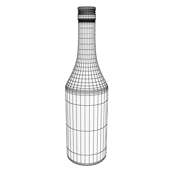malibu bottle, cocktail and shot glass collection 3d model 3ds max fbx obj 139239