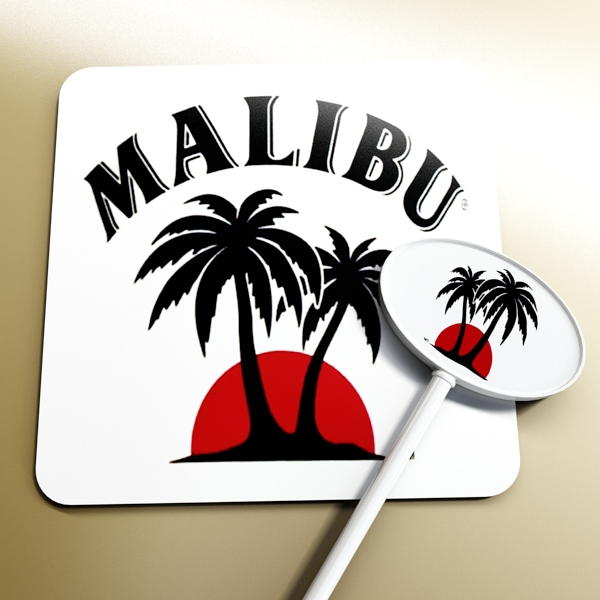 malibu bottle, cocktail and shot glass collection 3d model 3ds max fbx obj 139249