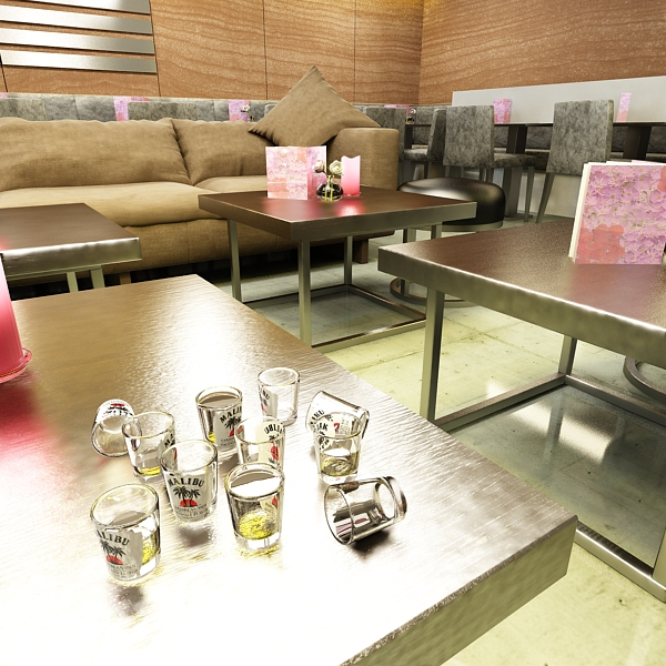malibu bottle, cocktail and shot glass collection 3d model 3ds max fbx obj 139264