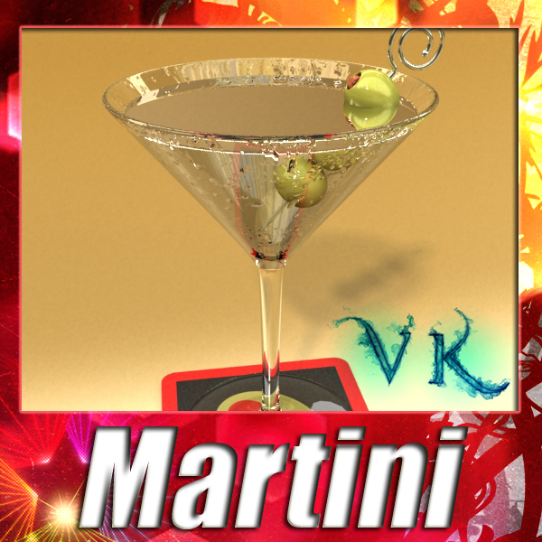 martini liquor glass 3d model 3ds max fbx obj 136684
