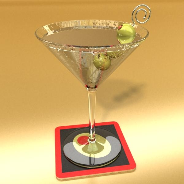 martini liquor glass 3d model 3ds max fbx obj 136685