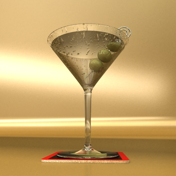 martini liquor glass 3d model 3ds max fbx obj 136686