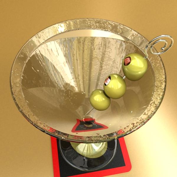 martini liquor glass 3d model 3ds max fbx obj 136687