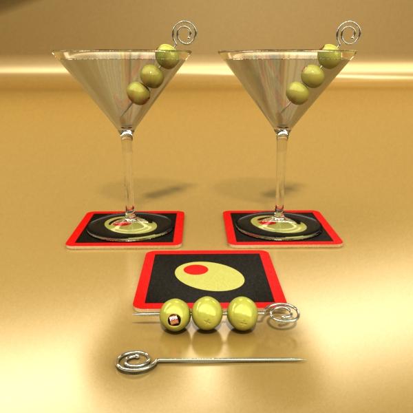 martini liquor glass 3d model 3ds max fbx obj 136690