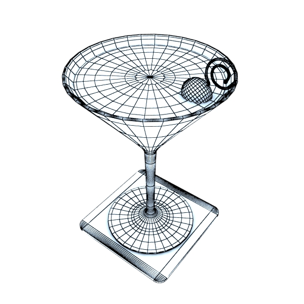 martini liquor glass 3d model 3ds max fbx obj 136695