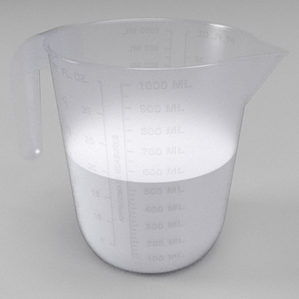 measuring jug 3d model 3ds fbx skp obj 115133