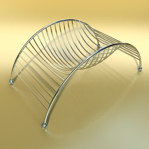 metal basket collection 3d model 3ds max fbx obj 133682
