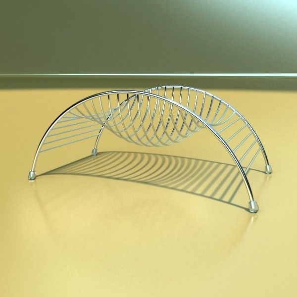 metal basket collection 3d model 3ds max fbx obj 133683