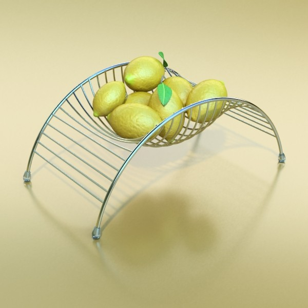 metal basket collection 3d model 3ds max fbx obj 133691