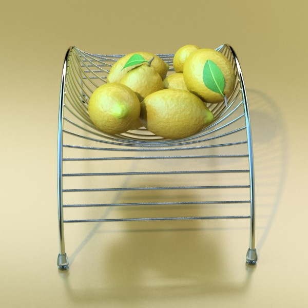 metal basket collection 3d model 3ds max fbx obj 133692