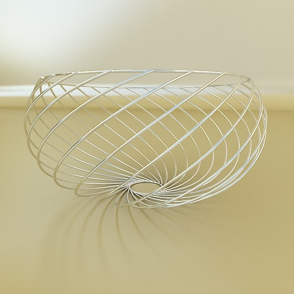 metal basket collection 3d model 3ds max fbx obj 133694