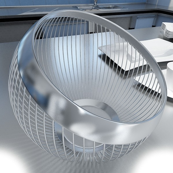 metal basket collection 3d model 3ds max fbx obj 133698