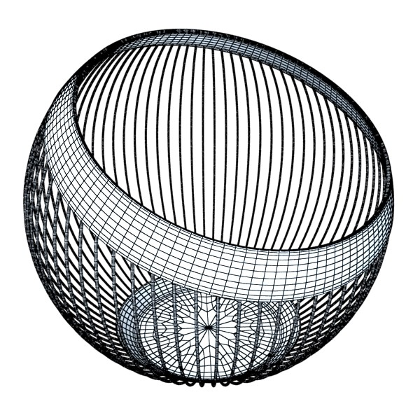 metal basket collection 3d model 3ds max fbx obj 133703