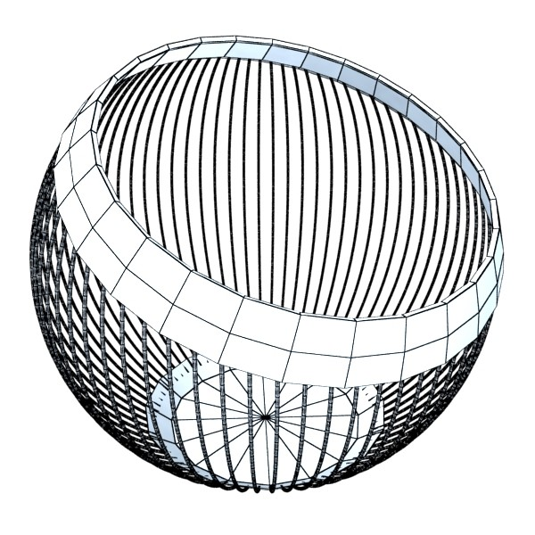 metal basket collection 3d model 3ds max fbx obj 133704