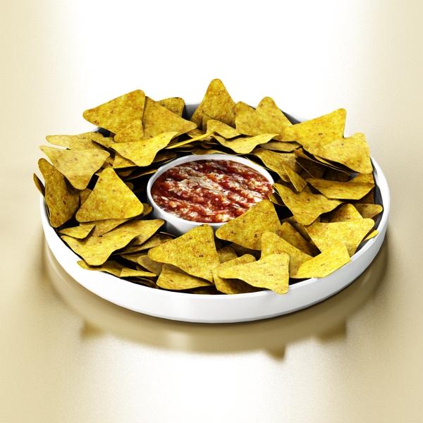 nacho bowl 3d model 3ds max fbx obj 147838