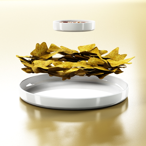 nacho bowl 3d model 3ds max fbx obj 147842