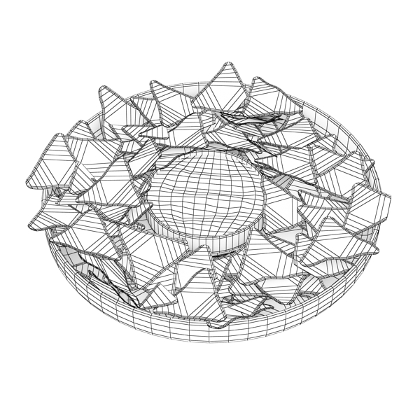 nacho bowl 3d model 3ds max fbx obj 147845