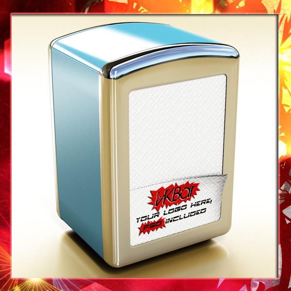 napkin dispenser 1 3d model 3ds max fbx obj 147074