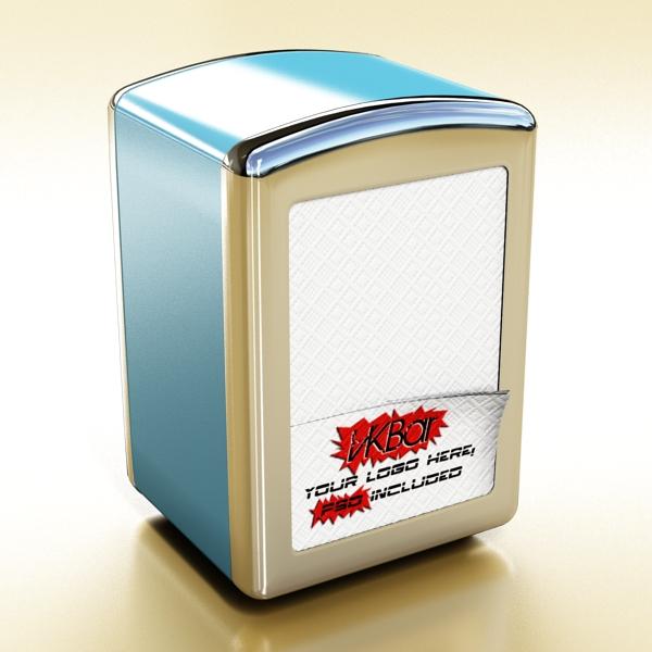 napkin dispenser 1 3d model 3ds max fbx obj 147075